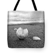 Beginnings Black And White Tote Bag