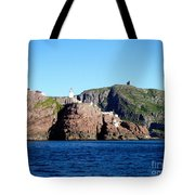 Behind Fort Amherst Rock 2 By Barbara Griffin Tote Bag