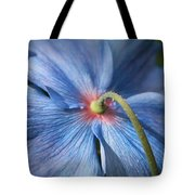 Behind The Blue Poppy Tote Bag