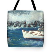 Behind The Breakwall Tote Bag
