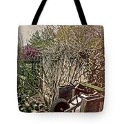 Behind The Garden Tote Bag by Tom Gari Gallery-Three-Photography