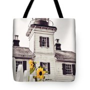 Behind The Lighthouse  Tote Bag