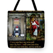 Behold I Stand At The Door And Knock Composite Tote Bag