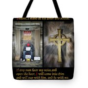 Behold I Stand At The Door Composite Tote Bag