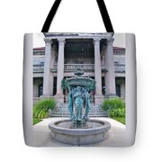 Beiger Mansion Front Entrance Tote Bag