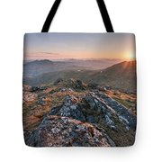 Sunset From Beinn Ghlas - Scotland Tote Bag