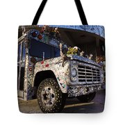 Bejeweled Bus Tote Bag