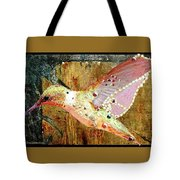 Bejeweled Hummingbird Tote Bag