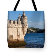 Belem Tower Fortification On The Tagus River Tote Bag