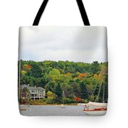 Belfast Maine Harbor Tote Bag