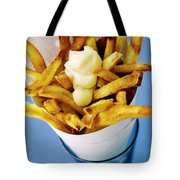 Belgian Fries With Mayonnaise On Top Tote Bag