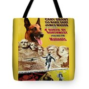 Belgian Malinois Art Canvas Print - North By Northwest Movie Poster Tote Bag