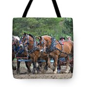 Belgians Four Abreast Tote Bag