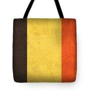 Belgium Flag Vintage Distressed Finish Tote Bag by Design Turnpike