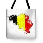 Belgium Painted Flag Map Tote Bag