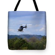Bell 206 Helicopter Tote Bag