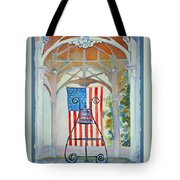 Bell And Flag Tote Bag