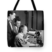 Bell Lab Scientists At Work Tote Bag
