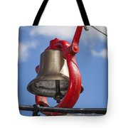 Bell On Steam Engine Tote Bag