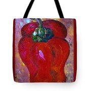 Red Bell Pepper Takes Center Stage Tote Bag