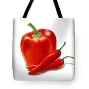 Bell Pepper With Chili Peppers Tote Bag