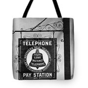 Bell Telephone Sign, C1899 Tote Bag