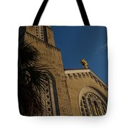 Bell Tower At St Sophia Tote Bag
