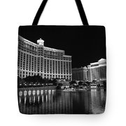 Bellagio Nights 2 Bw Tote Bag by Jenny Hudson