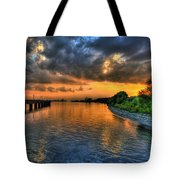 Belle Isle Pier Sunset Detroit Mi Tote Bag