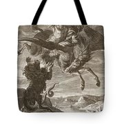 Bellerophon Fights The Chimaera, 1731 Tote Bag