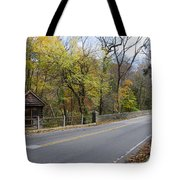 Bells Mill Road In Autumn Tote Bag