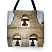 Bells Of Mission San Diego Tote Bag