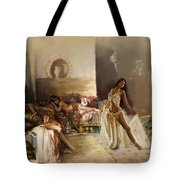 Belly Dancer Lounge Tote Bag by Corporate Art Task Force