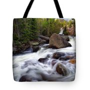 Below Alberta Falls Tote Bag