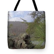 Below Badin Dam Tote Bag