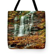 Below Ganoga Falls Tote Bag