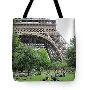 Below The Eiffel Tower Tote Bag