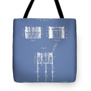 Bemis Snare Drum Patent Drawing From 1886 - Light Blue Tote Bag