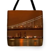 Ben Franklin Bridge Giant Panorama Tote Bag