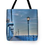 Ben Franklin Bridge Walkway Tote Bag