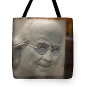 Ben Franklin Looking Out Tote Bag by Richard Reeve