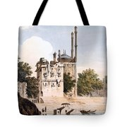 Benares On The Ganges Tote Bag by William Hodges