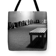 Bench Alone In Pre-show Gallery Tote Bag