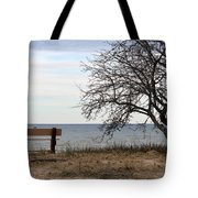 Bench And Beach Tote Bag