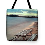 Bench And Table  Tote Bag
