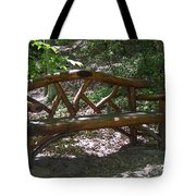 Bench Made Of Tree Branches Tote Bag