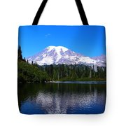 Bench Lake In The Fall Tote Bag