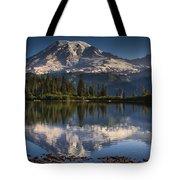 Bench Lake Sunrise Tote Bag