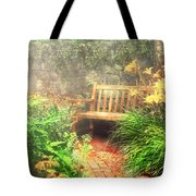 Bench - Privacy  Tote Bag by Mike Savad