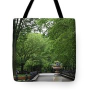 Bench Rows In Central Park  Nyc Tote Bag